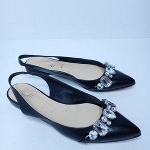 Butter made in Italy slingback black sandals